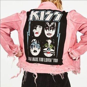 Zara Trafuluc NWT KISS Distressed denim jacket